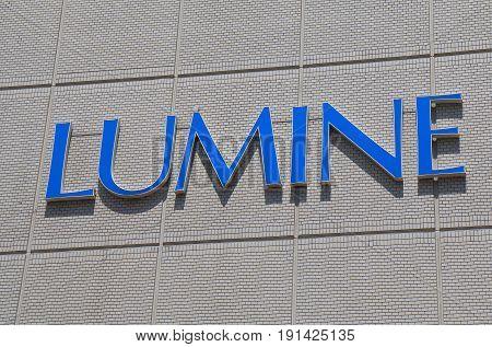 YOKOHAMA JAPAN - MAY 29, 2017: Lumine department store. Lumine is a Japanese department store chain founded in 1966.