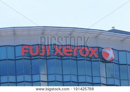 YOKOHAMA JAPAN - MAY 29, 2017: Fuji Xerox. Fuji Xerox produce xerographic and document related products founded in 1962.