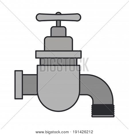 color image of faucet icon vector illustration