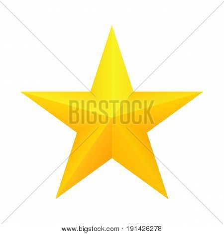 Realistic golden star icon. Ranking mark. Vector, isolated eps 10