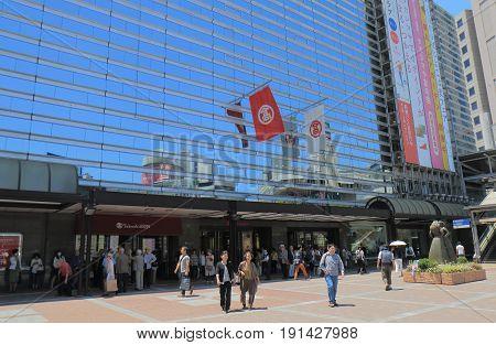 YOKOHAMA JAPAN - MAY 29, 2017: Unidentified people visit  Takashimaya department store. Takashimaya is a Japanese department store chain founded in 1829 in Kyoto Japan.