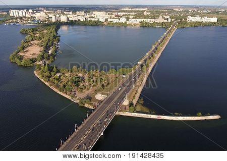 Suspension Bridge Charleston Aerial - The Ravenel Bridge