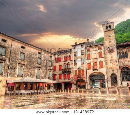City center, Treviso province in Italy, Vittorio Veneto