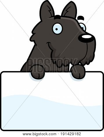 Cartoon Scottie Sign