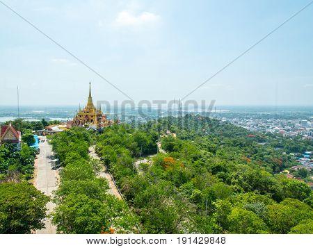 a city view of Nakorn sawan province at Thailand