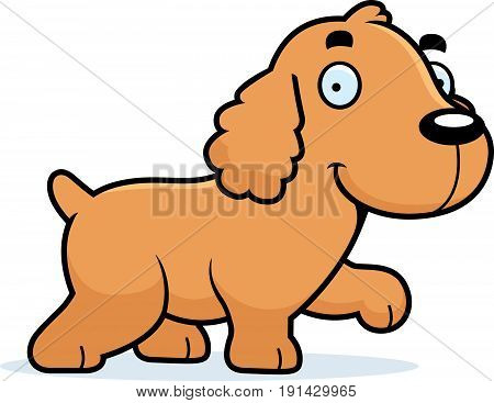 Cartoon Cocker Spaniel Walking
