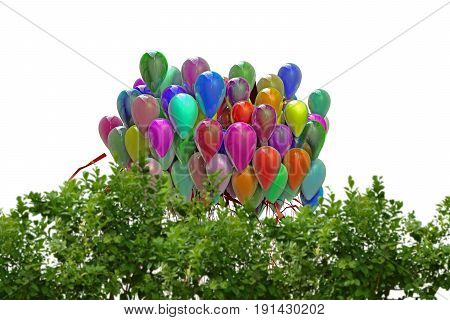 3d illustration of balloons isolated on white background