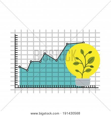 white background with colorful grid with graphics growth economy and plantpot symbol vector illustration