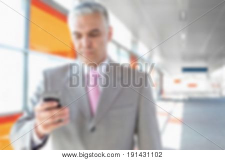 Blurred Business Background Concept: Commuting to Work
