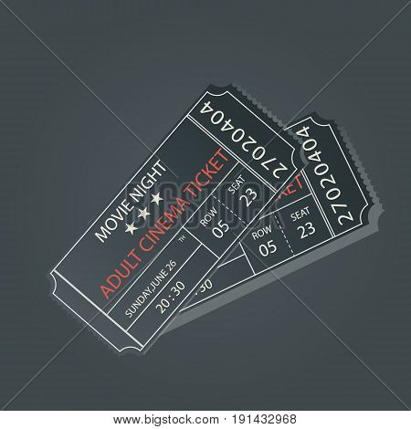 Set of Ticket Icon Isolated. Vector Illustration