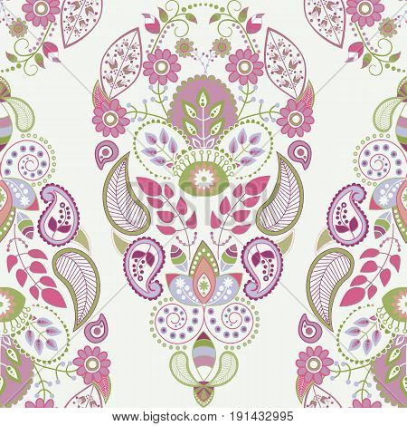 Light floral seamless pattern, ornamental wallpaper for cards, textile, web, wallpaper