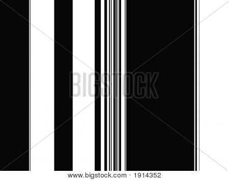 Op Art Black And White Plain Stripes