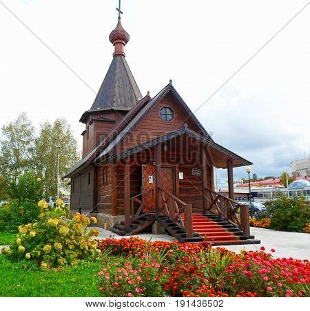 Wooden Church of Prince Alexander Nevsky, Vitebsk, Belarus - september 2016