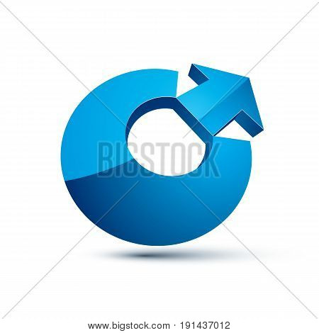 3D Abstract Symbol With An Arrow. Business Development Concept Vector Design Element, Innovations Th