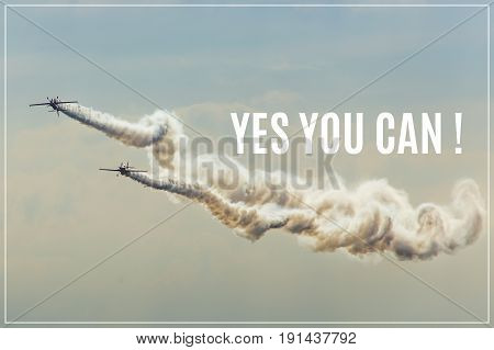 Yes you can. on Acrobatic team background.