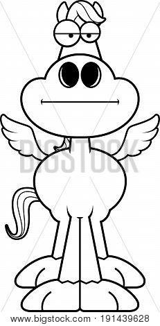 Cartoon Pegasus Bored