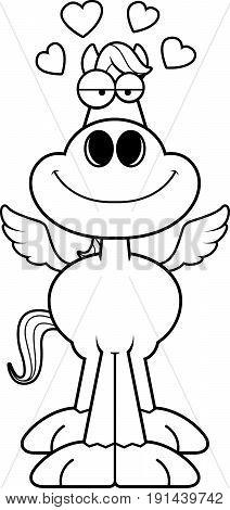 Cartoon Pegasus Love