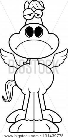 Sad Cartoon Pegasus
