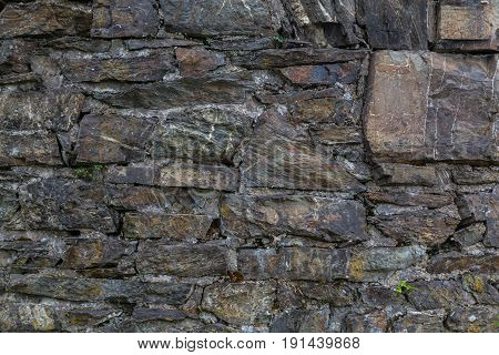 Stone Wall Made Of Old Stone Structure