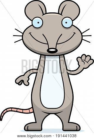 Cartoon Mouse Waving