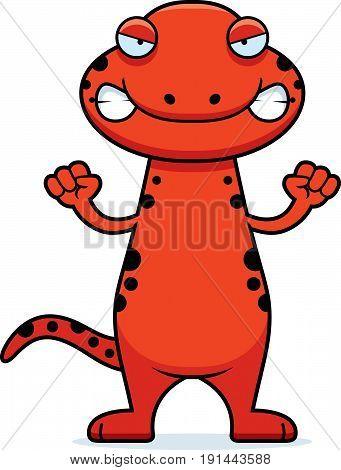 Angry Cartoon Salamander