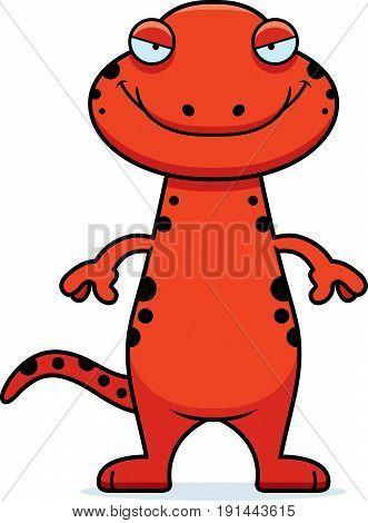 Sly Cartoon Salamander