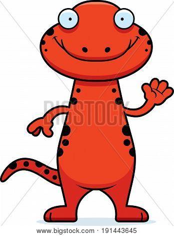 Cartoon Salamander Waving