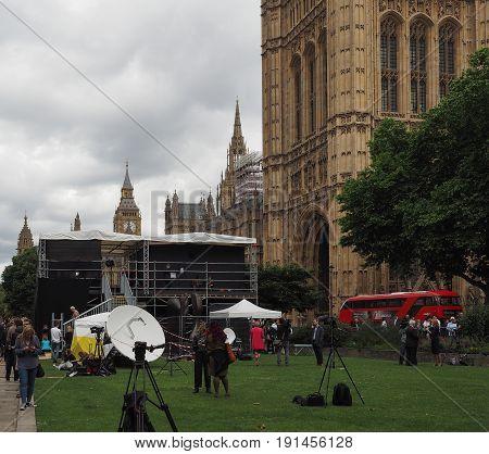 Press In Westminster, London