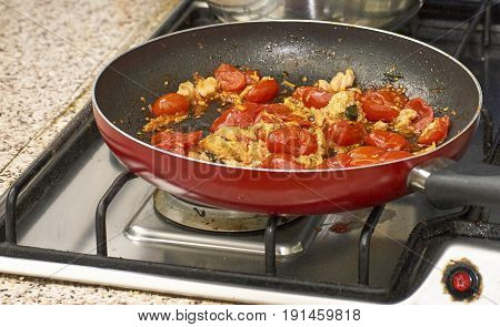 Sauce With Tomato And Tuna With Olive For Pasta