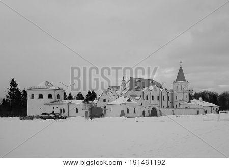 Winter day and Ratna Chamber in Tsarskoye Selo