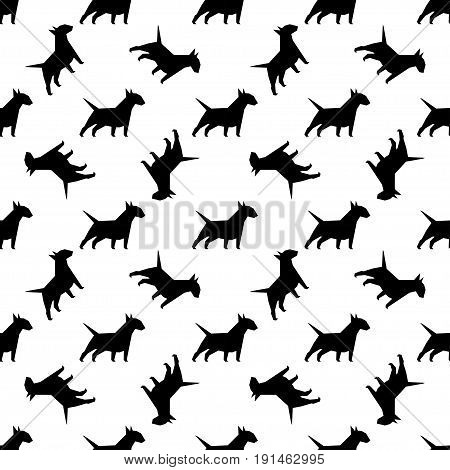 Seamless pattern with dogs. Endless texture can be used for wallpaper pattern fills web page background surface textures.