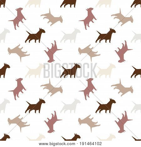 Seamless Pattern With Dogs.