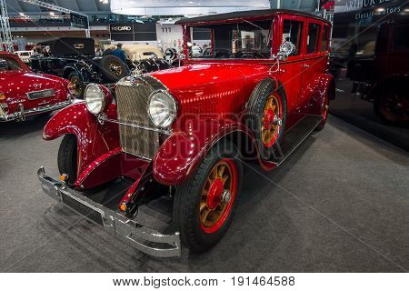 STUTTGART GERMANY - MARCH 02 2017: Luxury car Mercedes-Benz 300 Typ 12/55 PS 1926. Europe's greatest classic car exhibition