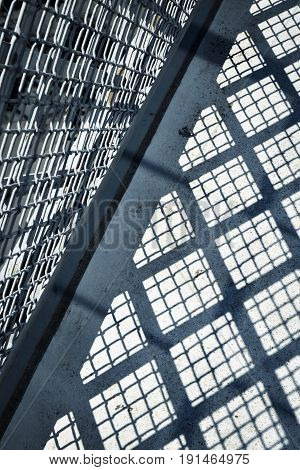 abstract detail background Shadow railings on concrete