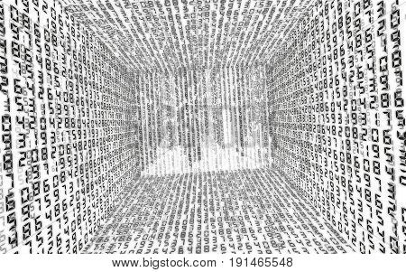 Binary Code Background Abstract