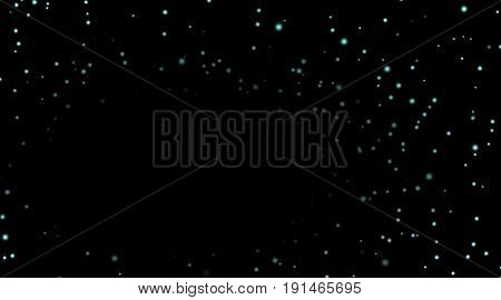 Stars On Black Night Background