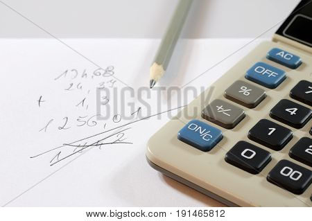 Documents, Calculations, Calculators, Calculator And Pen And Pencil
