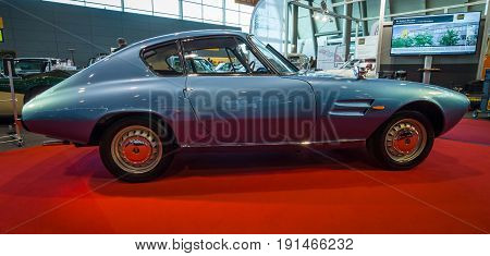 STUTTGART GERMANY - MARCH 02 2017: Sports car Fiat 1500 GT Ghia 1964. Europe's greatest classic car exhibition