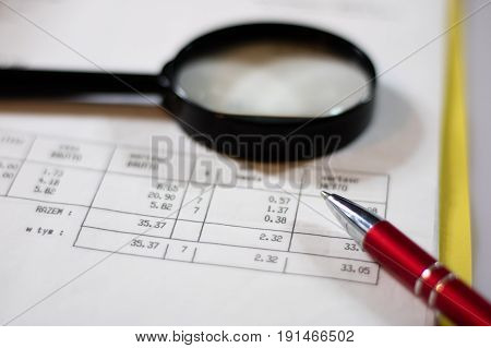 Documents, Calculations And Calculations By Magnifying Glass