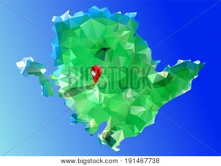 Anglesey. abstract multicolor Isle of Anglesey. 10 EPS