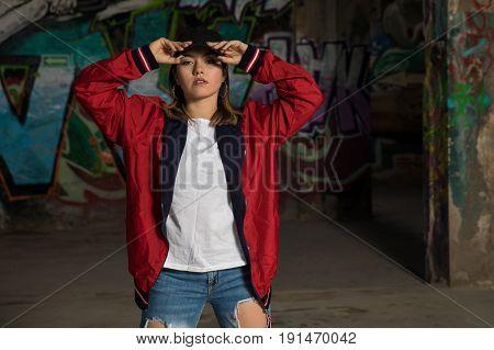 Pretty Latin Female Hip Hip Dancer