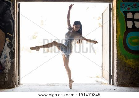 Young Woman Performing Ballet