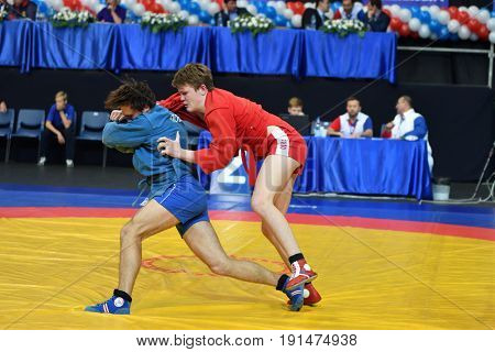 Orenburg, Russia - 29 October 2016: Boys Competitions Sambo