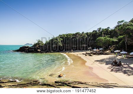 Buzios, Brazil - June 09 2017. Azedinha Beach In Buzios
