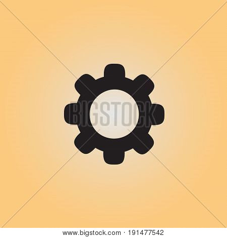 Cogwheel isolated vector sign. Cogwheel flat vector icon. Settings menu button vector illustration.