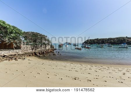 Buzios, Brazil - June 09 2017. Ossos Beach In Buzios