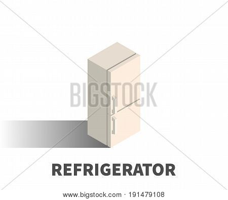 Refrigerator Icon, Vector Symbol In Isometric 3D Style Isolated On White Background.