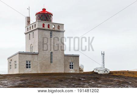 Dyrholaey Lighthouse Exterior, Iceland