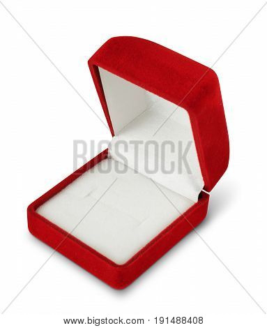 Open jewellry box isolated on white clipping pass