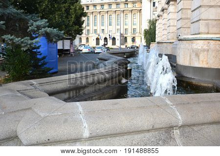 Typical urban landscape in the center of Bucharest - Bucuresti. Bucharest is the capital of Romania. Bucharest have 3 millions inhabitants and many historical vestiges.